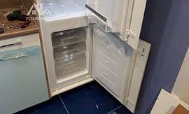 Установка встраиваемого холодильника - 5vodnom
