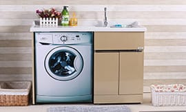 Установка встраиваемой стиральной машины с подключением - 5vodnom