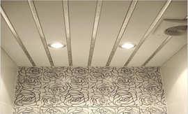 Монтаж реечного потолка в туалете - 5vodnom