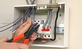 Подключение кабеля к щиту - 5vodnom