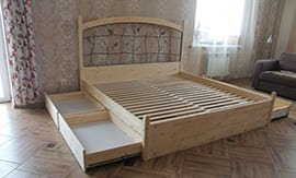 Сборка двуспальной кровати в Москве - 5vodnom