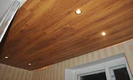 Укладка ламината на потолок - 5vodnom