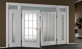 Установка двойных дверей на дому