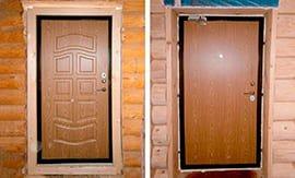 Установка входной железной двери